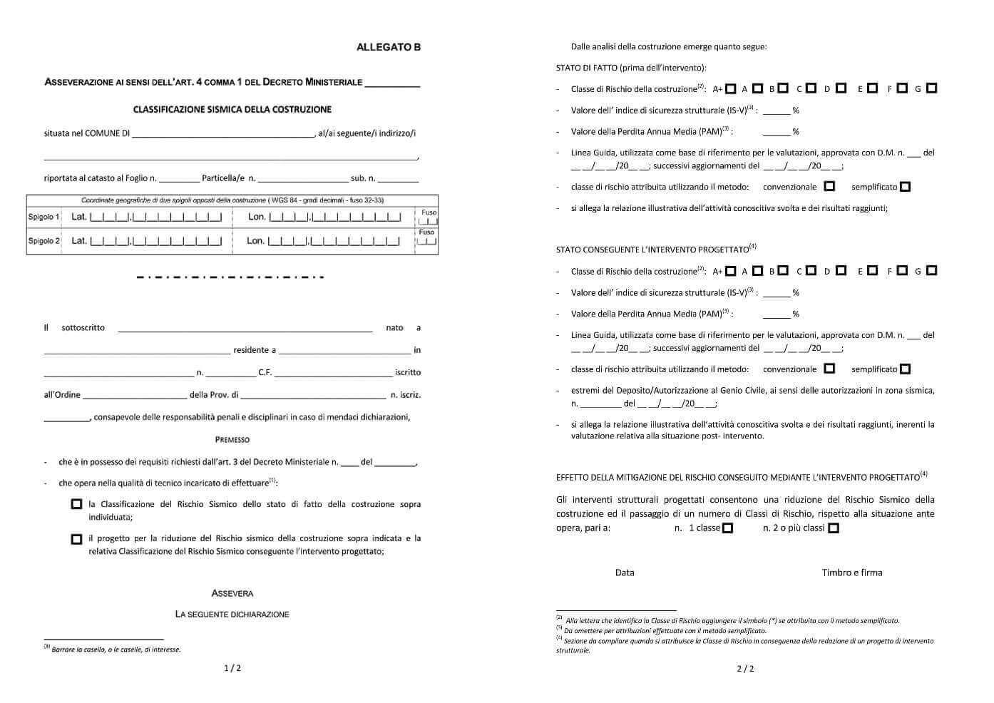 Comunicazione Asl Detrazione 50 Modulo sismabonus 2020: sconto in fattura e detrazioni interventi