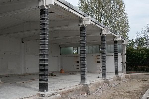 miglioramento sismico prefabbricato rinforzo pilastri e rinforzo nodi sismabonus