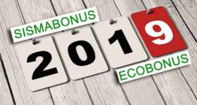Sismabonu Ecobonus 2019
