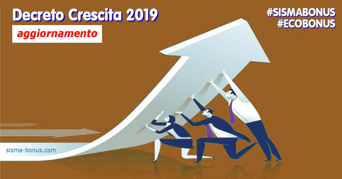 Aggiornamento Sismabonus ed Ecobonus nel Decreto Crescita 2019