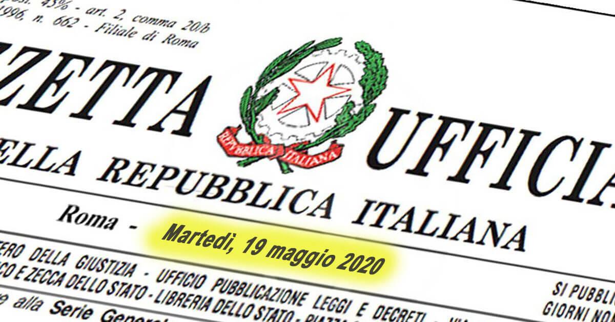 Decreto Rilancio: aggiornamento 19 maggio Gazzetta Ufficiale