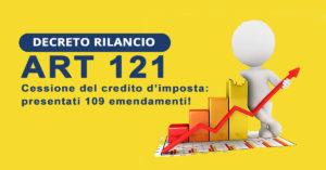 Decreto Rilancio - ART 121 Cessione del credito d'imposta: presentati 109 emendamenti!