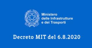 Decreto MIT del 6.8.2020 smabonus al 110%