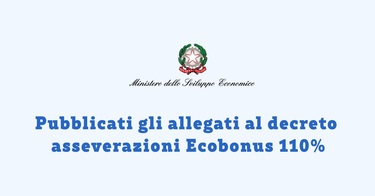 Pubblicati gli allegati al Decreto Asservazioni Ecobonus 110%