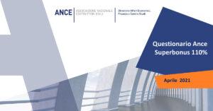 SUPERBONUS 110%: Sondaggio tra le imprese ANCE