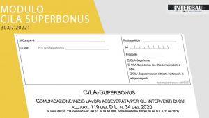 Pubblicato il modulo unico CILA Superbonus ai sensi del DL 77/2021 Semplificazioni Bis.